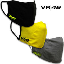 Valentino Rossi Official VR46 Social Face Mask Washable Black / Grey / Yellow