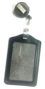 NEW ID CARD HOLDER BADGE REEL OYSTER SECURITY RETRACTABLE PHOTO IDENTITY PASS