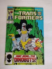 TRANSFORMERS #8 MARVEL COMICS 1985  1ST DINOBOTS VF- VF