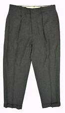POLO Ralph Lauren Gray Flannel Wool Pleated Suit/Dress Pants STRETCH ~ Sz 33x30