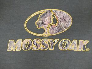 MOSSY OAK STRAW CAMMO TREE LOGO -LARGE GREEN T-SHIRT C950