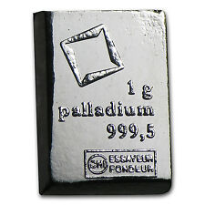1 gram Palladium Bar - Secondary Market - SKU #77400