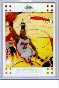 SHAQUILLE O'NEAL 2007 TOPPS CHROME REFRACTOR #d /999 MIAMI HEAT NM