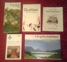 Set of 1970s Vintage Quebec Maps and travel brochures, hotel guide