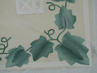 "VTG COVENTRY MANOR ""Trailing Ivy"" 2 Curtain Panels w/Ties & 1 Valance Unused"