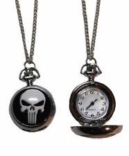 Marvel's The Punisher Logo Silvertone Finish Pendant Pocket Watch