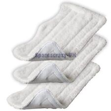 3 x Microfibre Velcro Washable Cloth Cleaning Pads will fit Lakeland Steam Mop