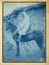 Photo Geiser Cyanotype Chef Arabe Vers 1890