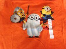 New Despicable Me Minion Size Large Kids Orange Halloween T-Shirt New