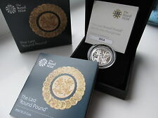 2016 SOLD OUT UK £1 Silver Proof. The LAST ROUND POUND only7,500 made. boxed/coa