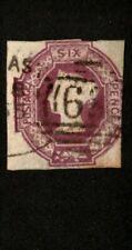 """Great Britain 1854 Scott# 7 """"Green Gum Variety""""Vg -F"""
