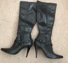 Super Sexy Slim Fit Black Boots. Ladies. Size 5. River Island. Original Box.