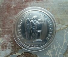 100 FRANCS Coin : FRANCE:  90% SILVER : 1989 : IN CAPSULE : SUPERB