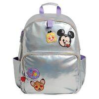 Disney Store Emoji Backpack School Book Bag Iridescent Bambi Mickey Mouse Alice