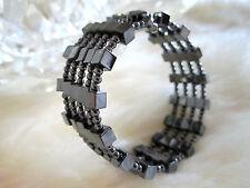 Magnetic / hematite bracelet, multi-strand – Square beads, FREE SHIPPING!