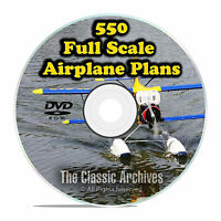 550 Giant Scale RC Model Airplane Plans Templates, Bombers Military PDF DVD F58