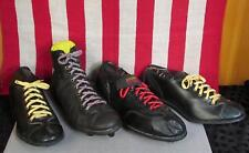 Vintage Lot of Single 1950s Leather Football & Baseball Shoes Cleats Unmatched