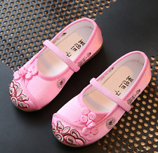 Chinese Style Dance Shoes Cute Spring Baby Kids Girls Cloth Embroidered Shoes