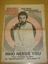 NME 1978 AUG 12 PETE TOWNSHEND WHO JONNY ROTTEN GEN X