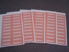 100 Blank Burnt Orange Juke Box Labels Jukebox Free S&H