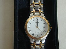Adec Steel and Gold Plated Mens dress watch W R 50