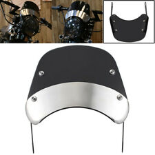 Black Front Windshield Windscreen Fitting For Motorcycle 5 & 7'' Round Headlight