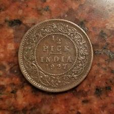 1927 BRITISH INDIA 1/2 PICE COIN - #7072