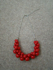 Fashion red beaded necklace B/N