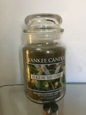 Yankee Candle Large 22 oz Jar Candle: HOLIDAY BAYBERRY from Deerfield, USA