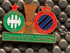 PINS BADGE FOOTBALL SOCCER ASSE SAINT ETIENNE VS CLUB BRUGGE