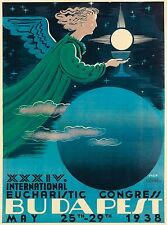 1938 Budapest Hungary Hungarian Europe Vintage Travel Advertisement Poster