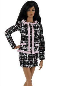 ELENPRIV  tweed jacket w/trim for Fashion Royalty FR:16 and similar size dolls
