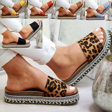 5fa0ffdb5 New Womans Studs Sliders Diamante Mule Summer Sandals Slip On Shoes Size 3-8