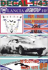 """DECAL 1/43 LANCIA STRATOS """"THE CHEQUERED"""" WALFRIDSSON SCOTTISH R. 1975 DnF (01)"""