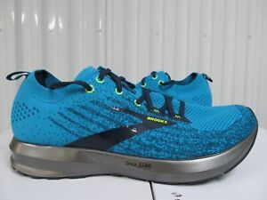 NEW Brooks Levitate 3 $150 Blue Teal Nightlife Volt Grey Silver 10 Running Shoes