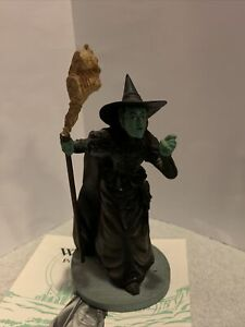 The Wizard Of Oz Wicked Witch Of The West Figurine Franklin Mint Vintage 1988
