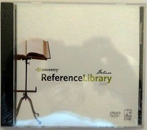 ANCESTRY REFERENCE LIBRARY 2008 DELUXE DVD-ROM - PC