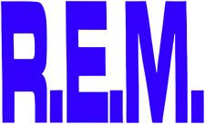17030 Blue R.E.M. Logo REM Alt Rock Music Band 90's Rub-on Vinyl Sticker Decal