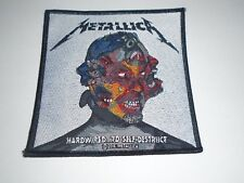 METALLICA HARDWIRED...TO SELF DESTRUCTION WOVEN PATCH