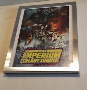 Autogramme Star Wars Kenny Baker Peter Mayhew Jeremy Bulloch Dave Prowse + COA