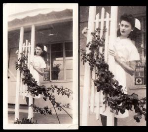 EXOTIC BEAUTY TALL ASIAN WOMAN SEXY NURSE WOMAN NEXT DOOR ~ 1940s VINTAGE PHOTO