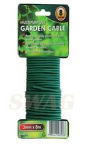 3MM X 8M PLANT TWINE GREEN FLEXIBLE BENDY GARDEN SUPPORT WIRE CABLE TWIST TIE