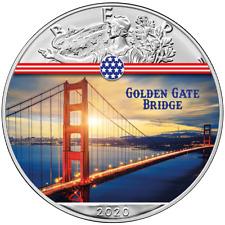 USA - 1 Dollar 2020 - Silver Eagle - Golden Gate Bridge (4.) - 1 Oz Silber ST