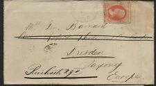 1882 Cover from Wyoming to Mrs General J G Barnard forwarded to Dresden Ger.