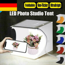 Doppelte LED-Licht Raum Foto Studio Fotografie Lichtzelt Hintergrund Cube Box
