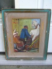 Fridrichs Milts The Donkey Cart Abstract Oil Painting Listed Latvian Artist Art
