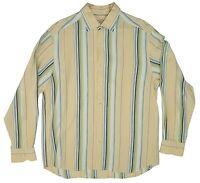 TOMMY BAHAMA Striped Button Shirt Mens Medium (M) Long Sleeve
