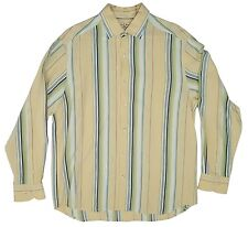 TOMMY BAHAMA Striped Button Shirt Mens Medium (M) Long Sleeve