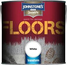 Jonhstones 2.5L Garage Floor Paint Hard Wearing Black Tile Red White Dark Grey