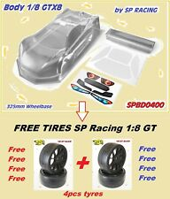"Body + 4pcs Tires ""FREE"" by SP Racing 1/8 GT GTX8 for MGT7 RGT8 GTX8 (no paint)"
